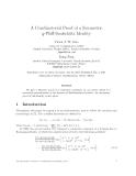"Báo cáo toán học: ""A Combinatorial Proof of a Symmetric q-Pfaff-Saalsch¨ tz Identity u"""