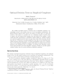 "Báo cáo toán học: ""Optimal Decision Trees on Simplicial Complexes"""