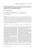 """Báo cáo lâm nghiệp: """"Environmental risk assessment based on semi-quantitative analysis of forest management data"""""""