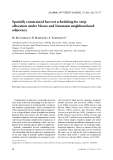 """Báo cáo lâm nghiệp: """"Spatially constrained harvest scheduling for strip allocation under Moore and Neumann neighbourhood adjacency"""""""