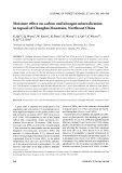 """Báo cáo lâm nghiệp: """"Moisture effect on carbon and nitrogen mineralization in topsoil of Changbai Mountain, Northeast China"""""""