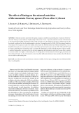 "Báo cáo lâm nghiệp: ""The effect of liming on the mineral nutrition of the mountain Norway spruce (Picea abies L.) forest"""