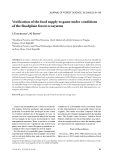 """Báo cáo lâm nghiệp: """"Verification of the food supply to game under conditions of the floodplain forest ecosystem"""""""