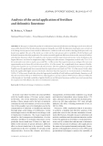 """Báo cáo lâm nghiệp: """"Analysis of the aerial application of fertilizer and dolomitic limestone"""""""