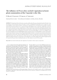 "Báo cáo lâm nghiệp: "" The influence of Picea abies on herb vegetation in forest plant communities of the Veporské vrchy Mts"""