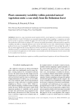 "Báo cáo lâm nghiệp: ""Plant community variability within potential natural vegetation units: a case study from the Bohemian Karst"""