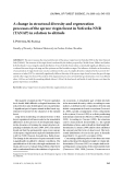 """Báo cáo lâm nghiệp: """"A change in structural diversity and regeneration processes of the spruce virgin forest in Nefcerka NNR (TANAP) in relation to altitude"""""""