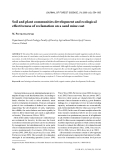 "Báo cáo lâm nghiệp: "" Soil and plant communities development and ecological effectiveness of reclamation on a sand mine cast"""