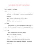 Giáo án Hóa Học lớp 12: SACCAROZƠ, TINH BỘT VÀ XENLULOZƠ