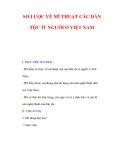 Giáo án Mỹ thuật lớp 9 : Tên bài dạy : SƠ LƯỢC VỀ MĨ THUẬT CÁC DÂN TỘC ÍT NGƯỜI Ở VIỆT NAM