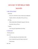 Giáo án Âm nhạc lớp 9 : Tên bài dạy :SƠ LƯỢC VỀ MĨ THUẬT THỜI NGUYỄN