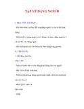 Giáo án Mỹ thuật lớp 9 : Tên bài dạy : TẬP VẼ DÁNG NGƯỜI