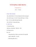 Giáo án Mỹ thuật lớp 9 : Tên bài dạy : VẼ TƯỢNG CHÂN DUNG