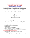 Phương pháp giải các bài tập hình không gian trong kì thi tuyển sinh đại học