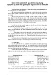 Giáo trình phân tích quy trình ứng dụng nguyên lý phản hồi giải ngân nguồn vốn từ lãi suất p1