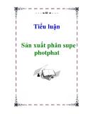Tiểu luận: Sản xuất phân supe photphat
