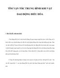 TÌM VẬN TỐC TRUNG BÌNH KHI VẬT DAO ĐỘNG ĐIỀU HÒA