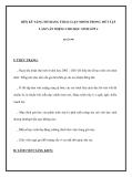RÈN KỸ NĂNG NÓI BẰNG THẢO LUẬN NHÓM TRONG TIẾT TẬP LÀM VĂN MIỆNG CHO HỌC SINH LỚP 4