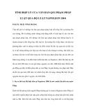 TÍNH HỢP LÝ CỦA VĂN BẢN QUI PHẠM PHÁP LUẬT QUA BỘ LUẬT NAPOLEON 1804