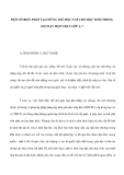 MỘT SỐ BIỆN PHÁP TẠO HỨNG THÚ HỌC TẬP CHO HỌC SINH TRONG GIỢ DẠY MỌN GDCS LỚP 6,7