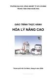 Giáo trình Thực hành hóa lý nâng cao - Lê Thị Thanh Hương, Nguyễn Hoàng Minh (ĐH Công nghiệp TP.HCM)