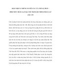 KHÁI NIỆM VÀ NHỮNG NGUYÊN TẮC CỦA TIỀN LỆ PHÁP – HÌNH THỨC PHÁP LUẬT ĐẶC THÙ TRONG HỆ THỐNG PHÁP LUẬT ANH - MỸ