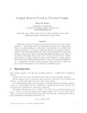 "Báo cáo toán học: ""Longest Induced Cycles in Circulant Graphs"""