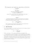 """Báo cáo toán học: """"The diameter and Laplacian eigenvalues of directed graphs"""""""