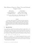 "Báo cáo toán học: ""Meta-Fibonacci Sequences, Binary Trees and Extremal Compact Codes"""