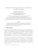 """Báo cáo toán học: """"A Gessel–Viennot-Type Method for Cycle Systems in a Directed Graph"""""""