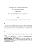 Báo cáo khoa học:Transversal and cotransversal matroids via their representations