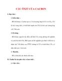 Giáo án Hóa học lớp 9 : Tên bài dạy : CÁC ÔXIT CỦA CACBON