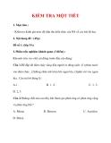 Giáo án Hóa học 9 :  KIỂM TRA MỘT TIẾT
