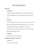 Giáo án Hóa học lớp 9 : Tên bài dạy : ÔN TẬP HỌC KÌ I
