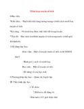 Giáo án Mỹ Thuật lớp 8: Minh hoạ truyện cổ tích