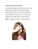 Mái tóc yêu kiều cho tối hẹn hò