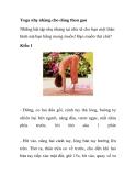 Yoga nhẹ nhàng cho vóc dáng thon gọn hơn