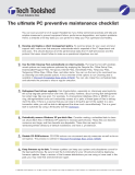 The ultimate PC preventive maintenance checklist