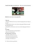 Sáng kiến kinh nghiệm môn Đạo đức lớp 1 – Bảo vệ cây và hoa nơi công cộng
