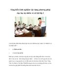 Sáng kiến kinh nghiệm vận dụng phương pháp dạy học tự nhiên và xã hội lớp 1