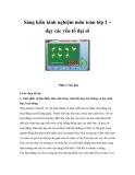 Sáng kiến kinh nghiệm môn toán lớp 1 – dạy các yếu tố đại số