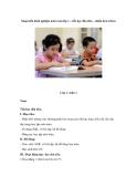 Sáng kiến kinh nghiệm môn toán lớp 1 – tiết học đầu tiên – nhiều hơn ít hơn