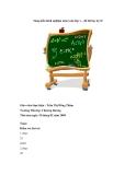 Sáng kiến kinh nghiệm môn toán lớp 1 – đề thi học kỳ II