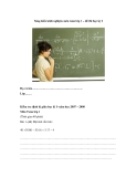 Sáng kiến kinh nghiệm môn toán lớp 1 – đề thi học kỳ I