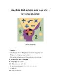 Sáng kiến kinh nghiệm môn toán lớp 1 – luyện tập phép trừ