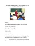 Sáng kiến kinh nghiệm môn toán lớp 1 – một vài phương pháp đã áp dụng trong việc dạy giải Toán có lời văn