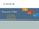 Bài giảng: Tổng quan về Web