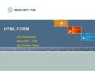 HTML FORM - Trần Khải Hoàng