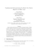 "Báo cáo toán học: ""Combinatorial Interpretations for Rank-Two Cluster Algebras of Affine Type."""
