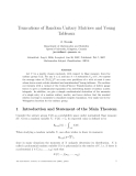 """Báo cáo toán học: """"Truncations of Random Unitary Matrices and Young Tableaux"""""""